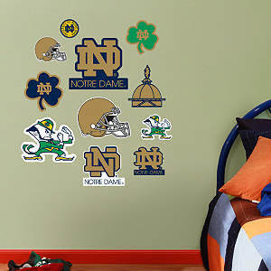 Notre Dame Fighting Irish - Team Logo Assortment Fathead Wall Decal